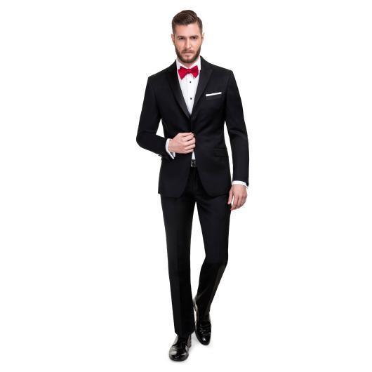Czarny garnitur ślubny VALERIO 13-14X1B