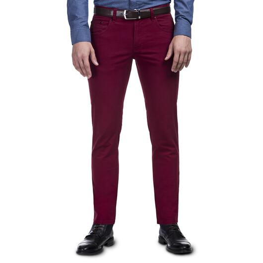 Bordowe Spodnie Stylizacje Meskie