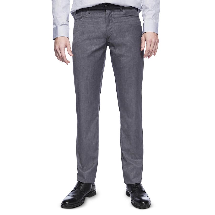 32c5b85471a8e Szare, casualowe spodnie męskie od Giacomo Conti