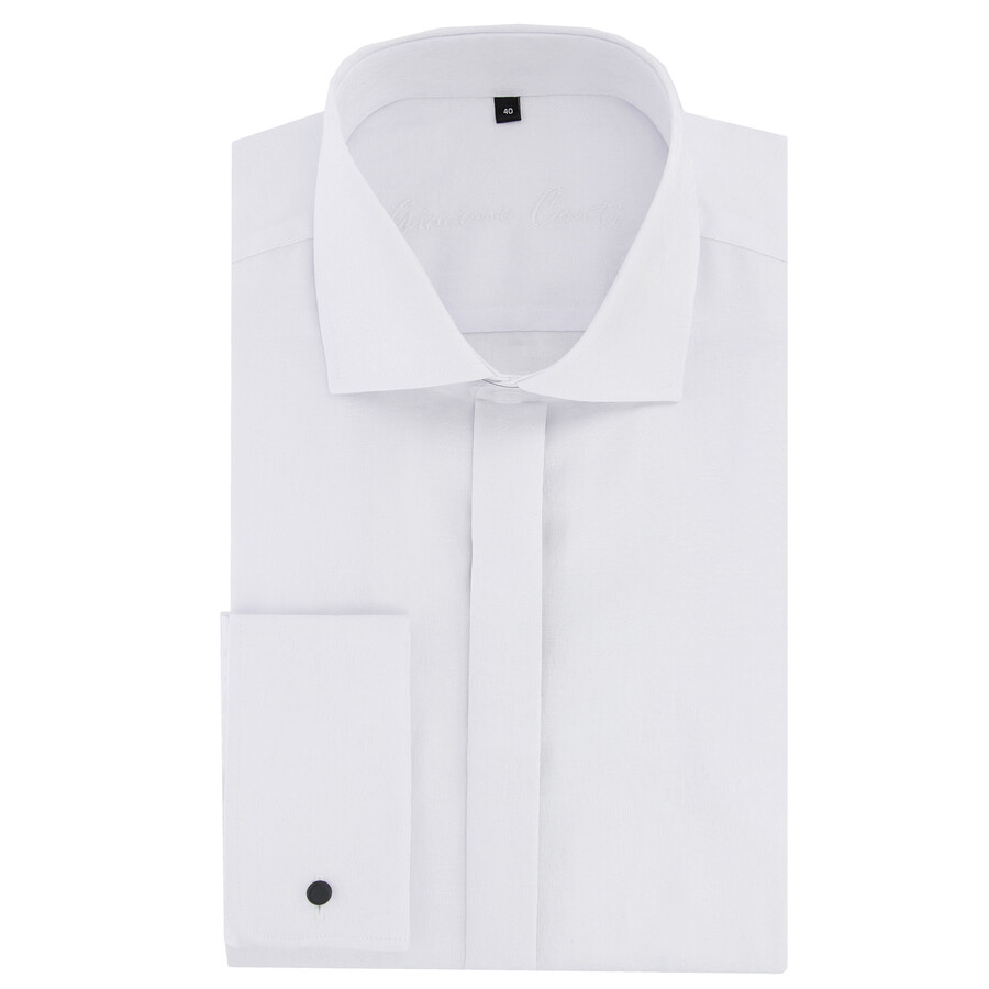 213985ad6f8716 Koszula męska biała regular MASSIMO Giacomo Conti