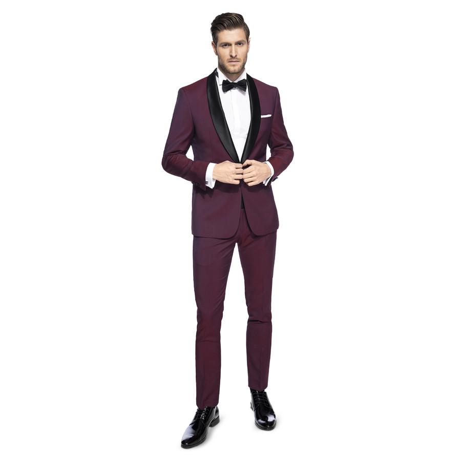 b4baac3da123c Elegancki bordowy garnitur ślubny Giacomo Conti