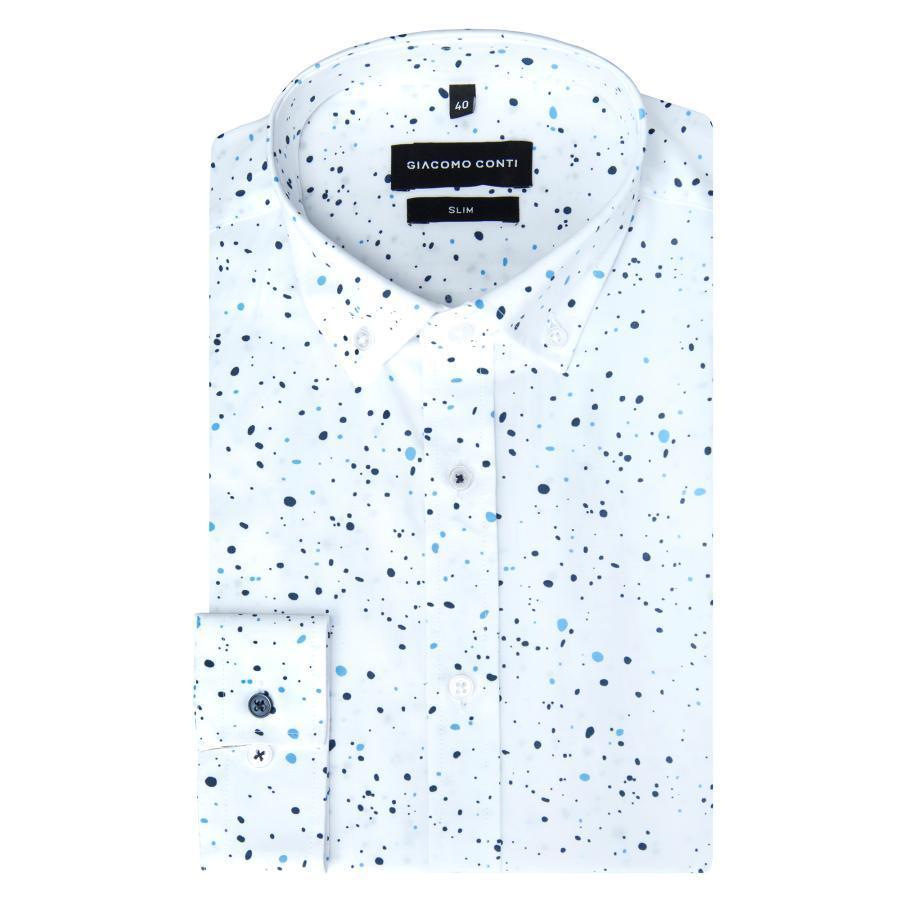 d725592b0b0eb5 Koszula męska biała w kropki SIMONE KDBS000250