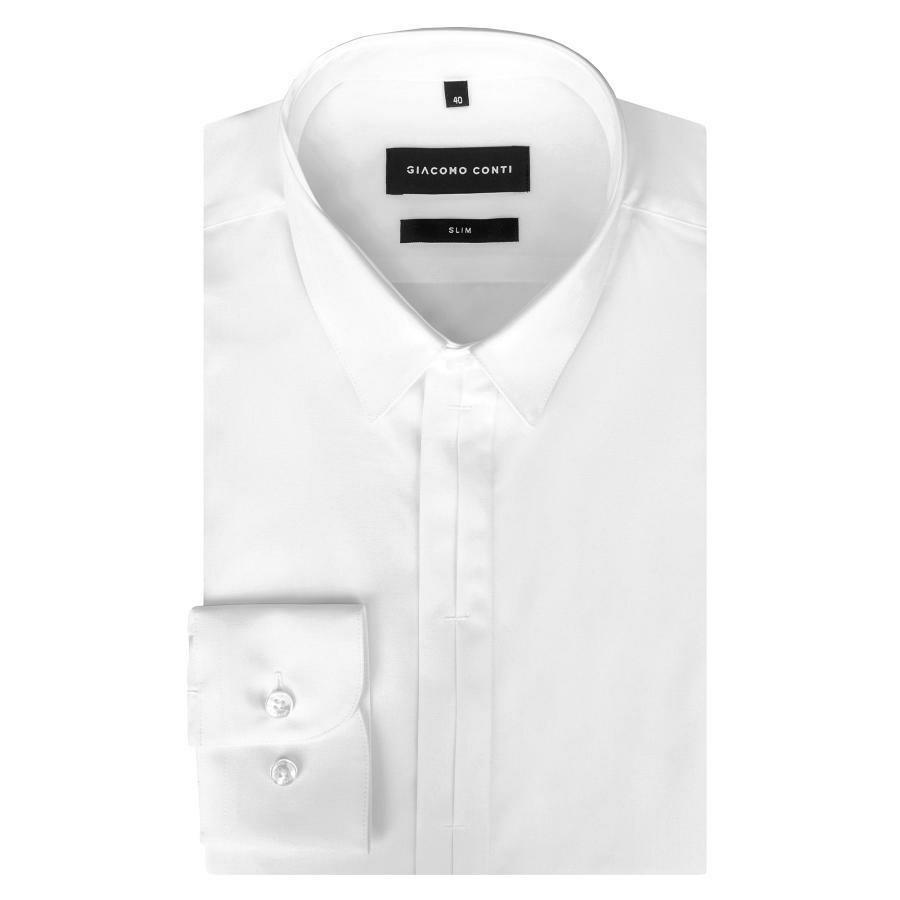 0b3723e88ecfab Biała koszula męska z plisą Giacomo Conti