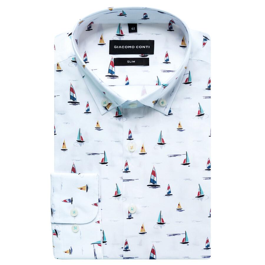 Koszula męska w wielokolorowe żaglówki SIMONE  BANuc
