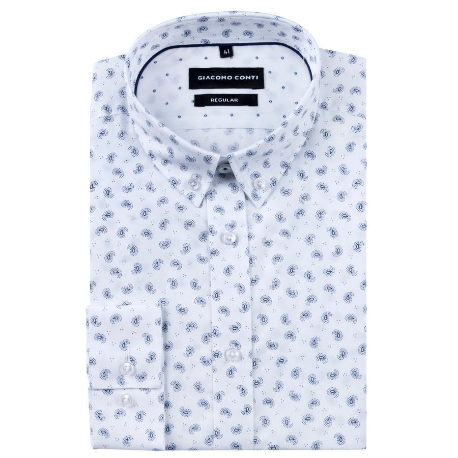 Bawełniana koszula męska z paisley Giacomo Conti  ypnxG