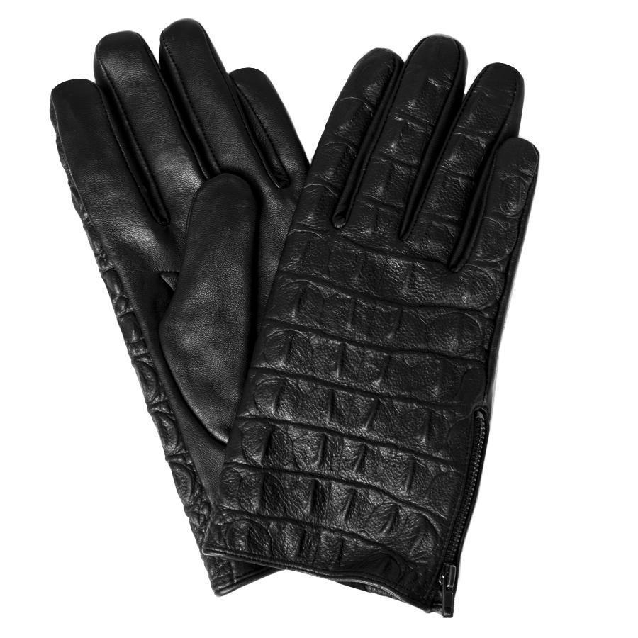 024a0009f55ec1 Skórzane rękawice męskie czarne Giacomo Conti
