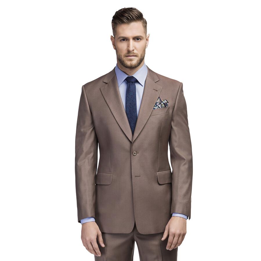 36a7a1030d367 Garnitur męski ROCCO w kolorze brązowym - Giacomo Conti