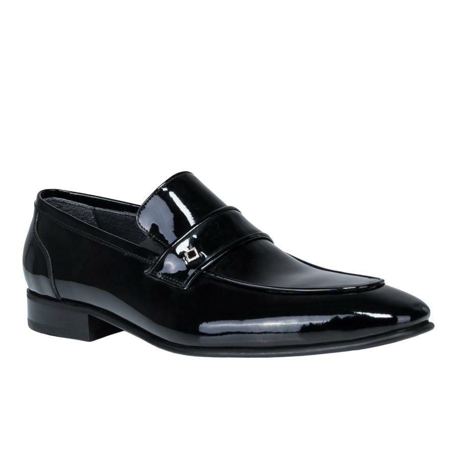d7deddd821f05 czarne eleganckie buty męskie z lakierowanej skóry BUCN000092