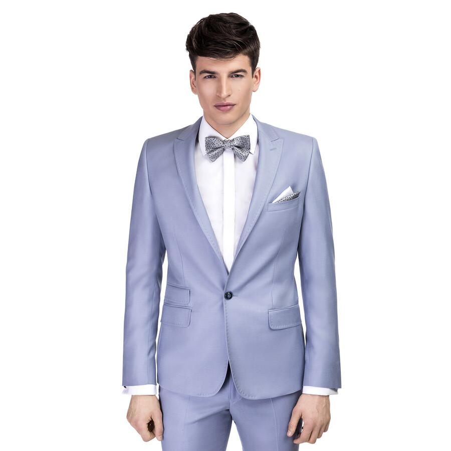 bca78592 Ślubny garnitur męski Andrea w niebieskim kolorze