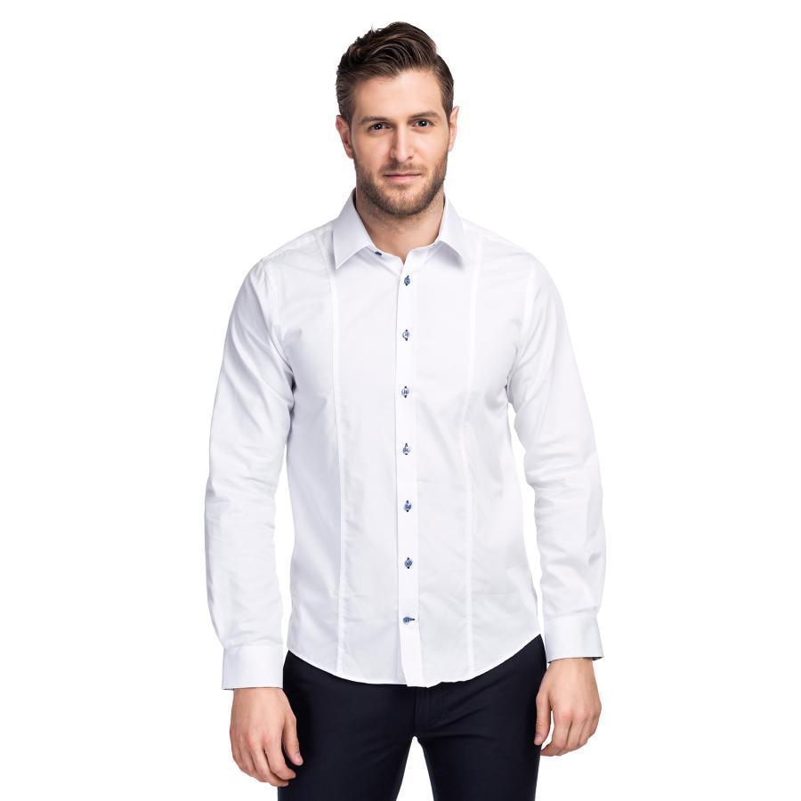 d12f30cf4f5458 Biała koszula męska Extra Slim Giacomo Conti