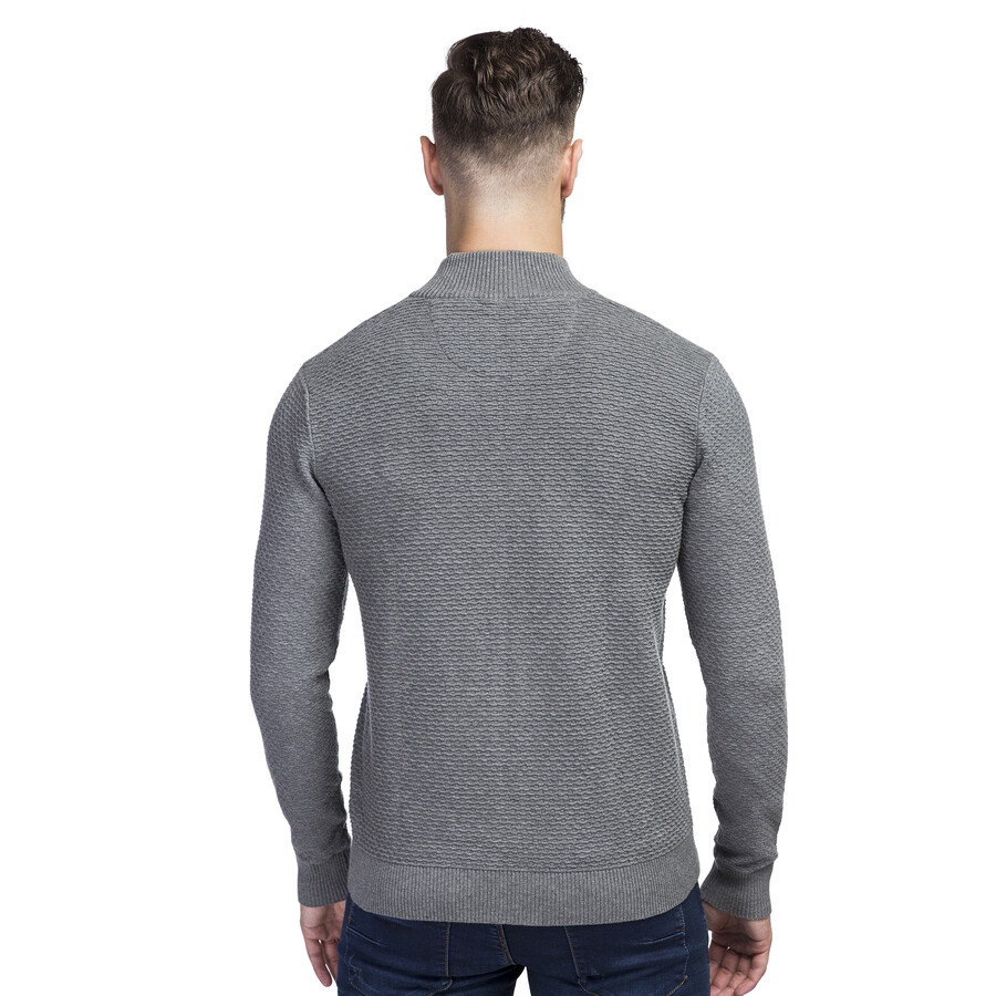 ffaafe85854000 Sweter męski szary OSCAR Giacomo Conti