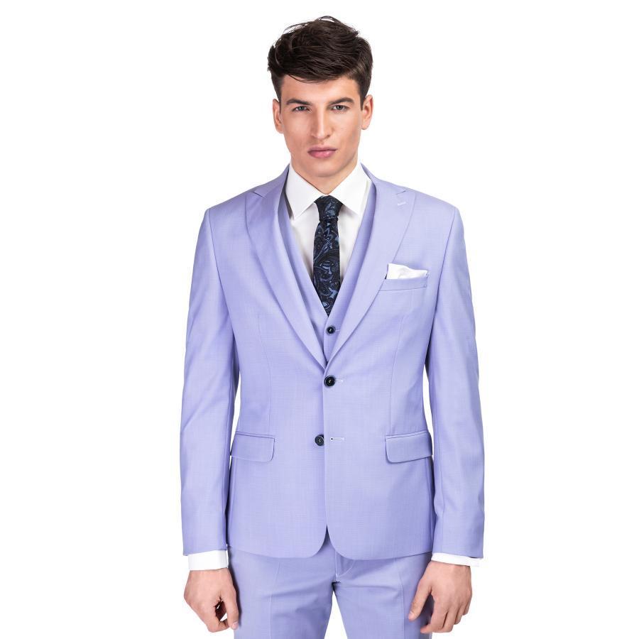 915d418e1dfff Błękitny, trzyczęściowy garnitur ślubny MARTINO - Giacomo Conti