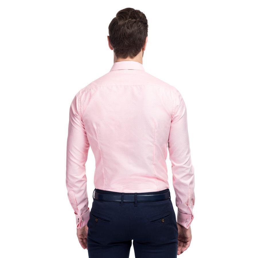 Różowa koszula męska SIMONE Giacomo Conti  psHI1