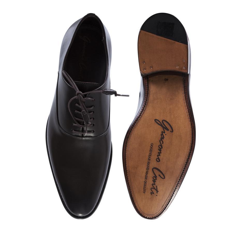 461e5f43 Brązowe buty męskie wizytowe Giacomo Conti BUKN000053