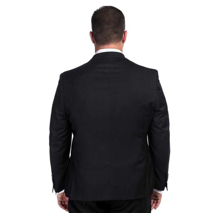 698de5b50a1f9 Elegancki czarny garnitur męski LEONARDO