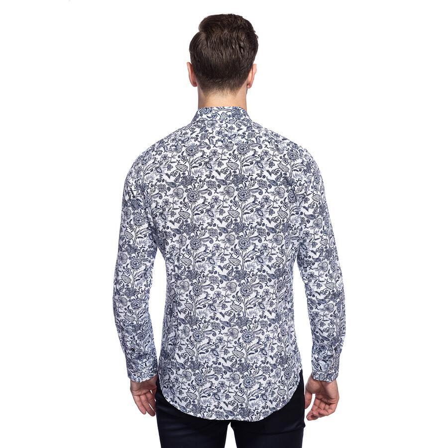 baea6825f5f8b3 Casualowa koszula męska we florystyczny wzór