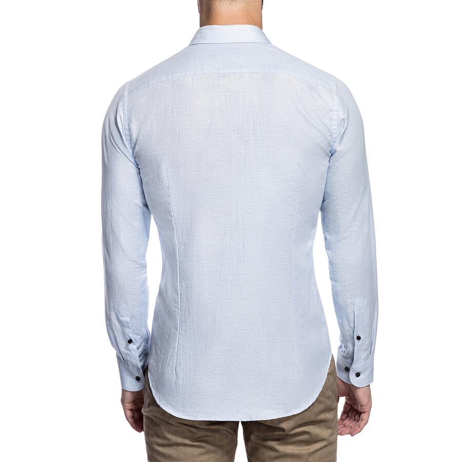 Lniana koszula męska elegancka giacomo conti  Xzmom