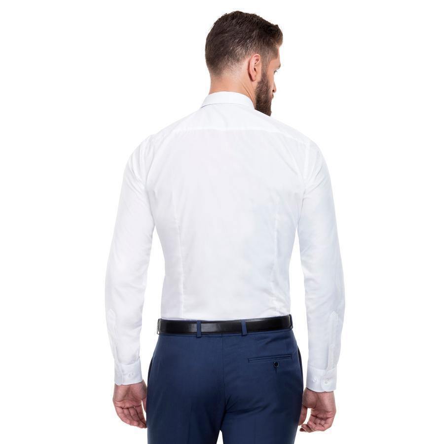 22ea55d15d052 Klasyczna koszula męska LORENZO w kolorze białym od Giacomo Conti.