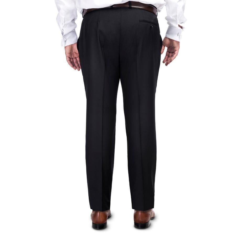 c30e7be1ace2d Elegancki czarny garnitur męski LEONARDO