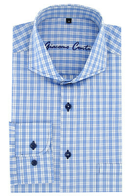Koszula niebieska w ananasy BIAGIO 15 11 38 | Giacomo Conti  5n0VK