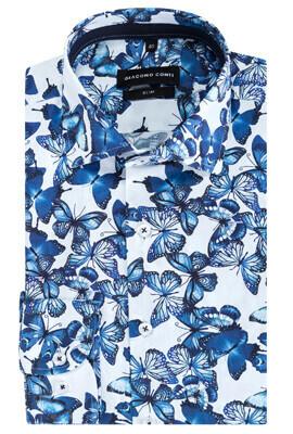 Koszula męska w ptaki SIMONE KDWS000225 Giacomo Conti  Uw5Nr