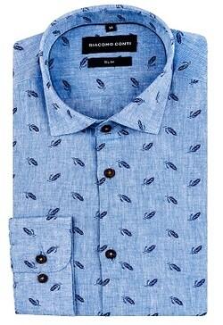 Wakacyjna koszula męska na krótki rękaw w kotwice Giacomo Conti  Lb7TG