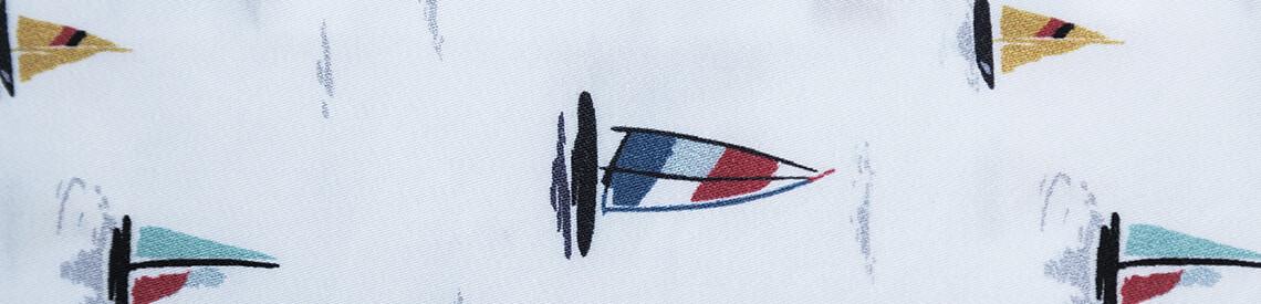 Koszula męska w wielokolorowe żaglówki SIMONE